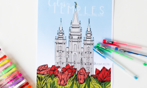 color the temples coloring book