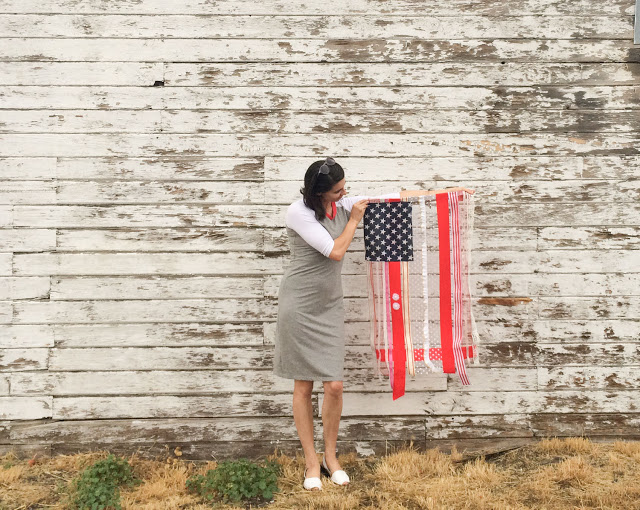Fourth of July Ribbon Flag DIY