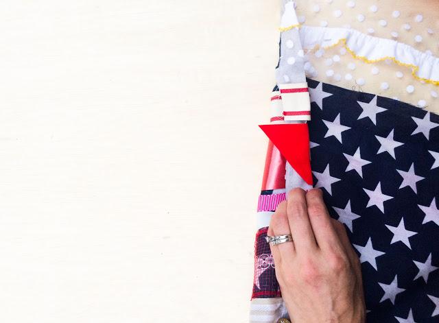 Fourth of July Ribbon Flag DIY