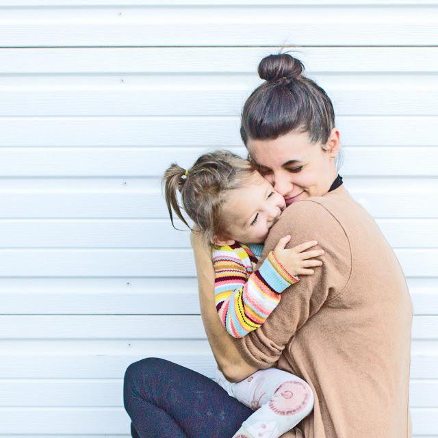 having faith in hard moments - mommy and me hug