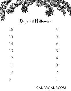 FREE PRINTABLE HALLOWEEN COUNTDOWN
