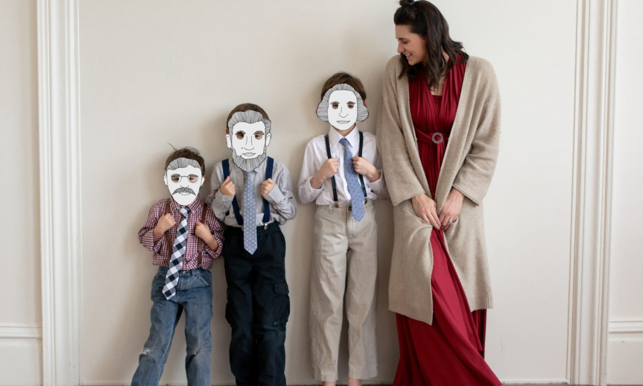 presidents day masks free printables