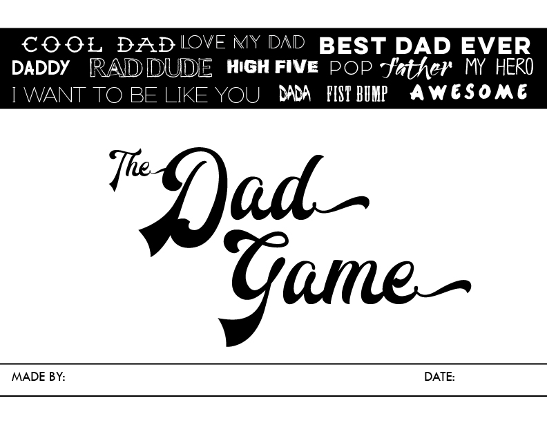 the dad game