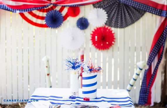 FIREWORK FOURTH OF JULY PARTY DIY
