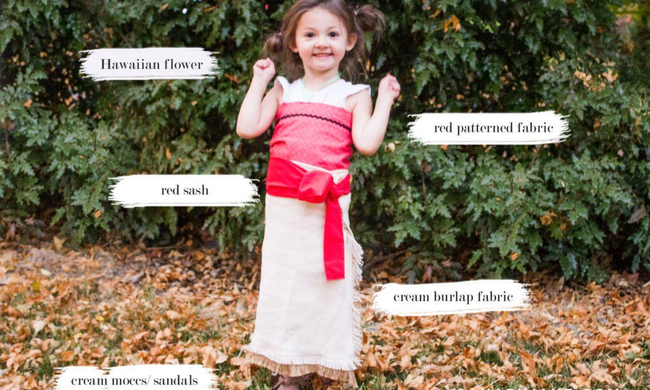 diy moana easy costume