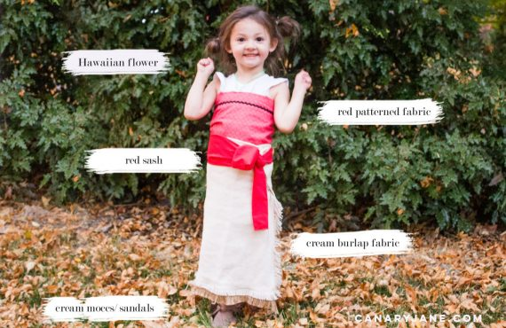 diy moana easy costume