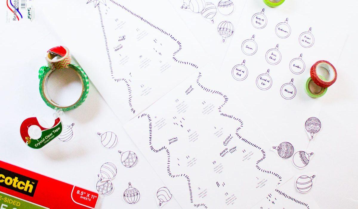 free printable christmas advent calendar