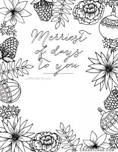 free christmas coloring page