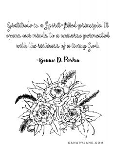 gratitiude coloring page
