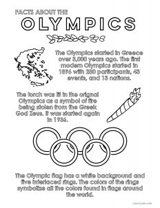 facts about the olympics free pritnable coloring page for teachers