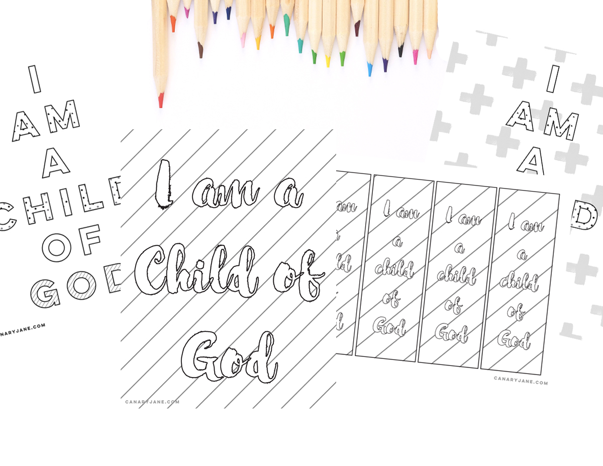 graphic about I Am a Child of God Printable referred to as No cost I Am a Baby of God Handouts - Canary Jane
