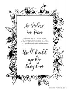 as sisters in zion free printable handout