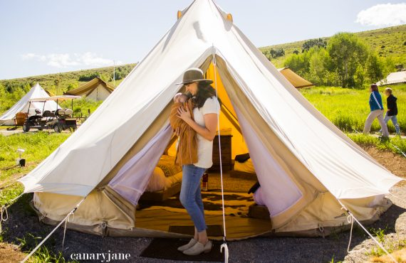 Glamping at Conestoga Ranch at Bear Lake