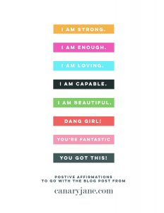 positive affirmations labels free printable