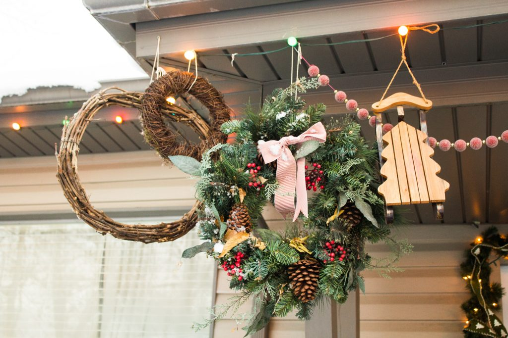 Christmas Wreaths Porch Display xmas decorations