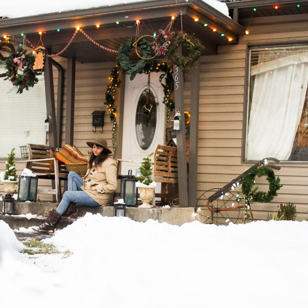 Christmas Wreaths Porch Display xmas decorations