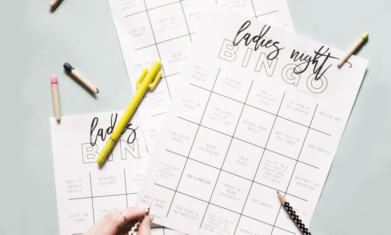 Grab this free printable ladies night out icebreaker bingo game. It's perfect to break the ice with a big group and have some fun.