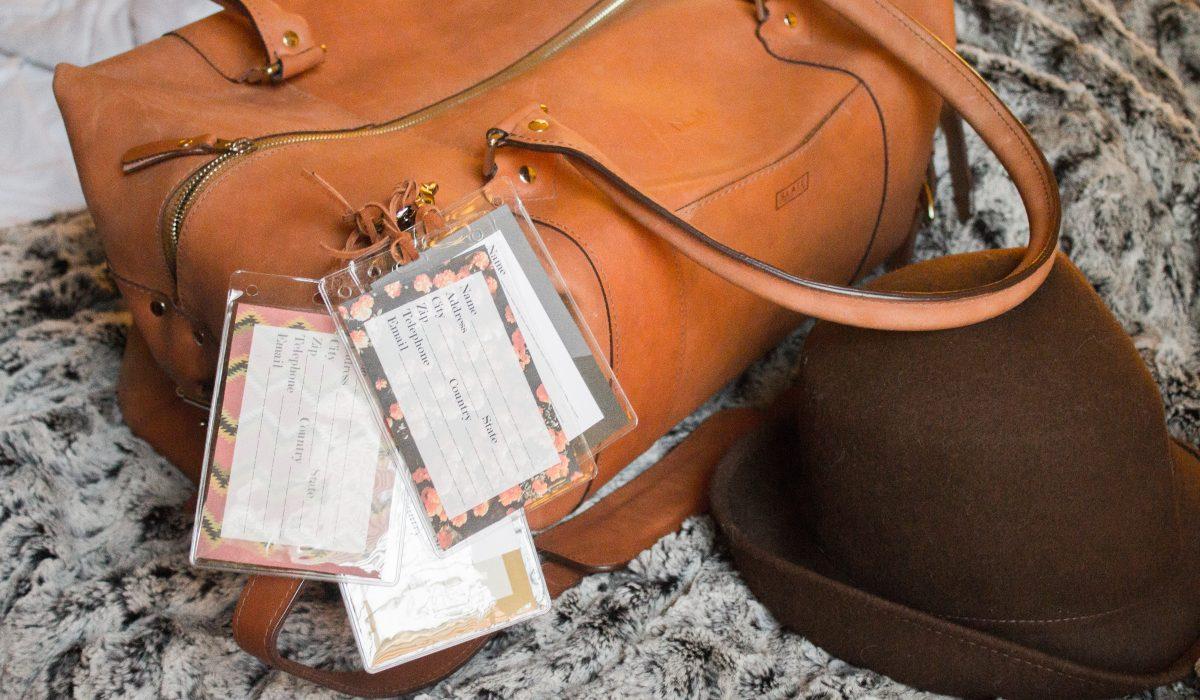 free printable luggage tags