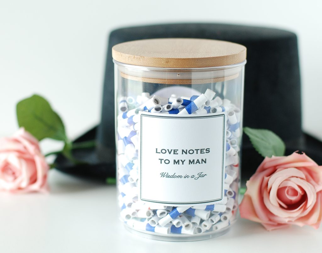amazing personalized valentine gift ideas from small shops and etsy shops - wisdom in a jar etsy shop
