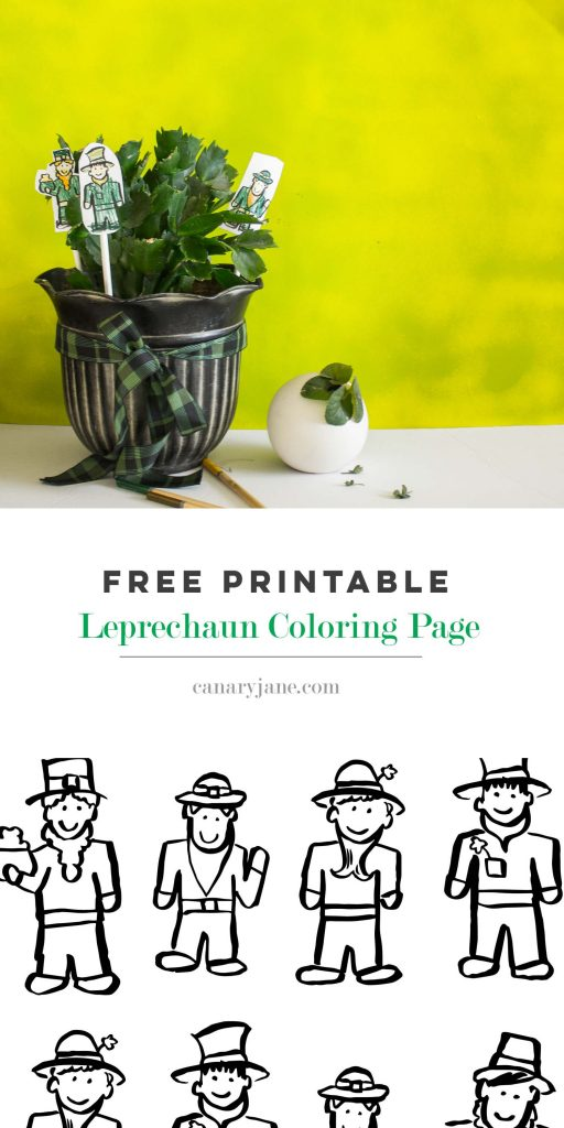 Print off these St Patrick's day Leprechaun Free Printables to add some green and luck to your home.