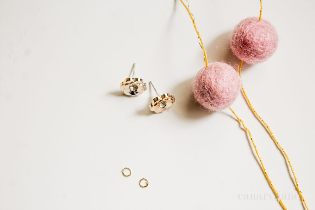 Easy Felt Ball Earrings DIY