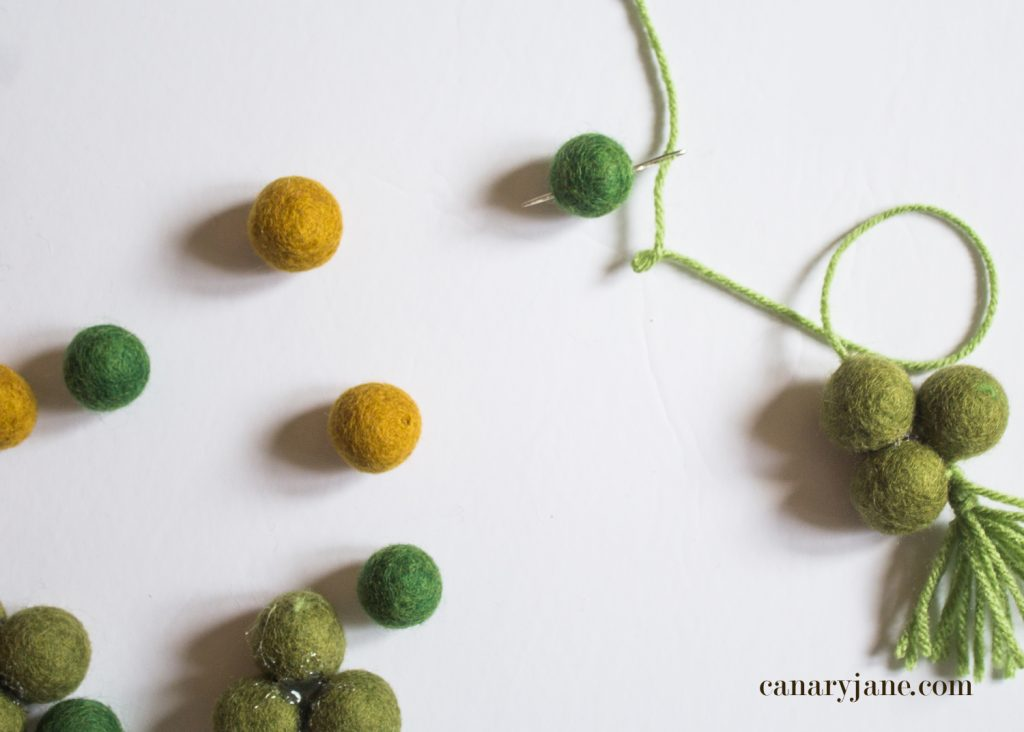 DIY St. Patrick's Day Rainbow Pom Pom Wreath