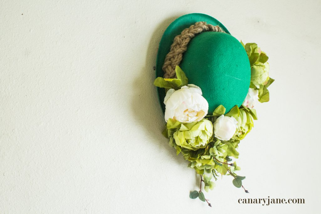St. Patrick's Day Floral Hat Wreath
