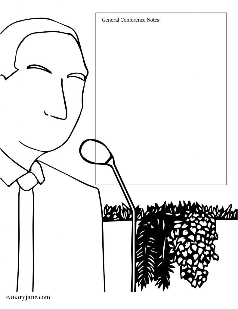 general conference free printable coloring page