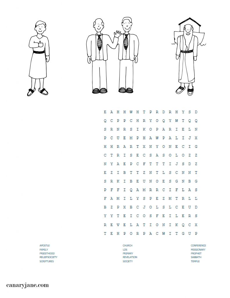 general conference free printable word search