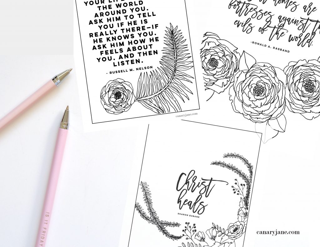"Print off these free printables from the April 2019 General Conference. I've illustrated these prints and coloring pages for you to use with your family. We've loved using these in the past for FHE, sunday lessons, and church quiet activities.  ""pray to have eyes to see God's hand in your life... Russell m nelson"""