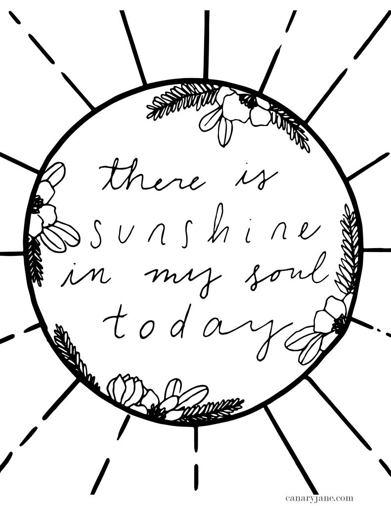 "Print off these free printables from the April 2019 General Conference. I've illustrated these prints and coloring pages for you to use with your family. We've loved using these in the past for FHE, sunday lessons, and church quiet activities. ""there is sunshine in my soul today"