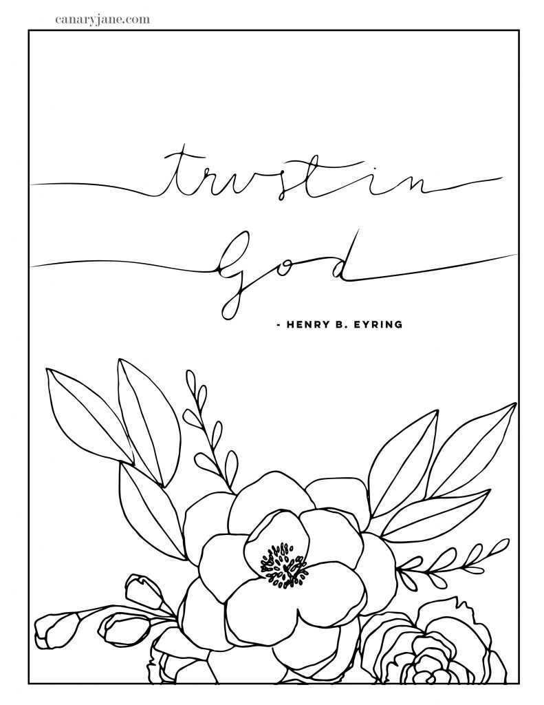 General Conference Free Printables April 2019 - Canary Jane