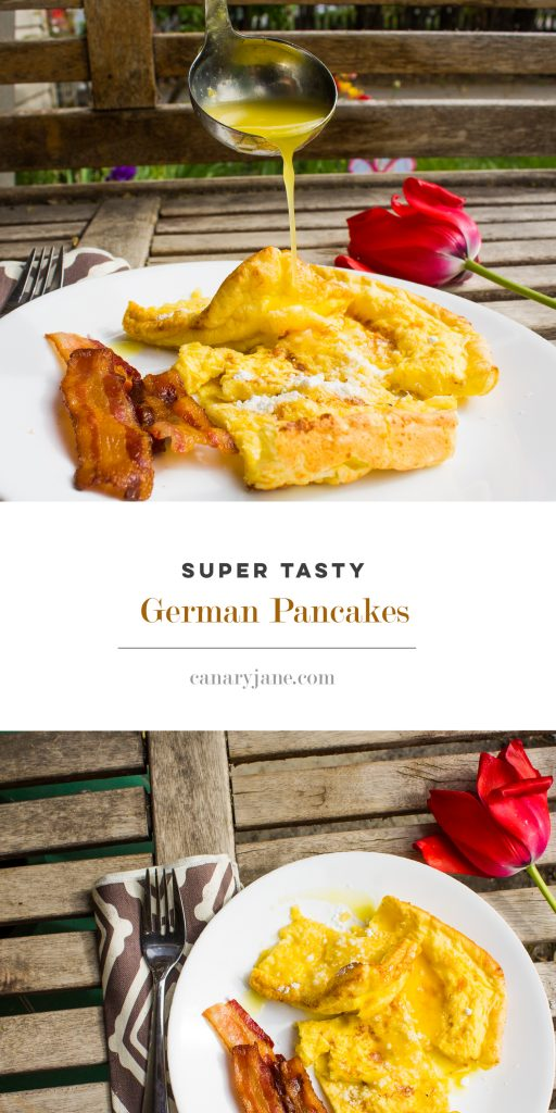 Grab this amazing recipe for German Pancakes and Orange Sauce. This recipe is my in-laws Christmas tradition and isn't too hard to make. It uses just a few ingredients and takes just ten minutes to cook. You can try different toppings too. This recipe is for the German pancakes and orange sauce. We also like to sprinkle these with powdered sugar. Enjoy.
