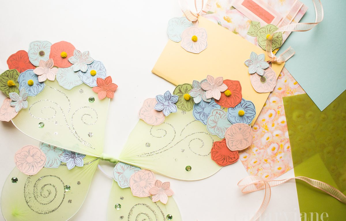 graphic relating to Printable Paper Craft titled Butterfly Paper Crafts + Printable - Canary Jane