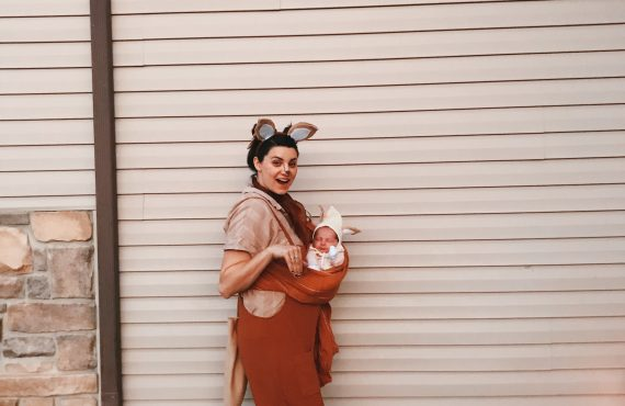 Mommy and Me Baby Kangaroo DIY Costume