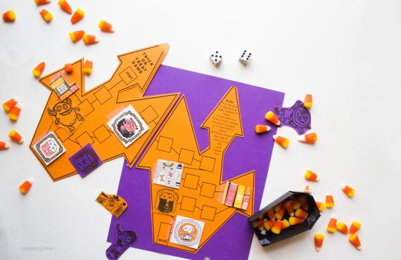Trick or Treat Free Printable Halloween Board Game