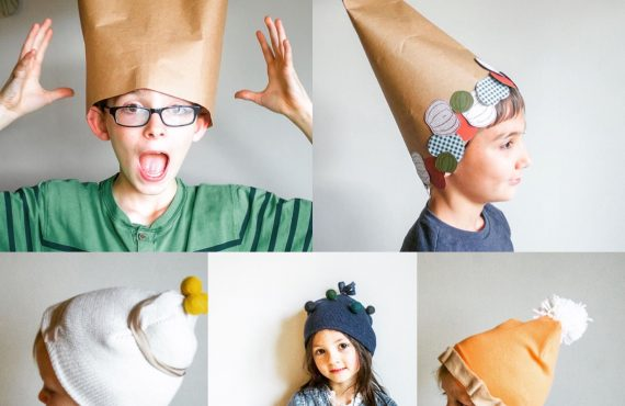 DIY Paper Cornucopia & Thanksgiving Foods Hat Kids Craft
