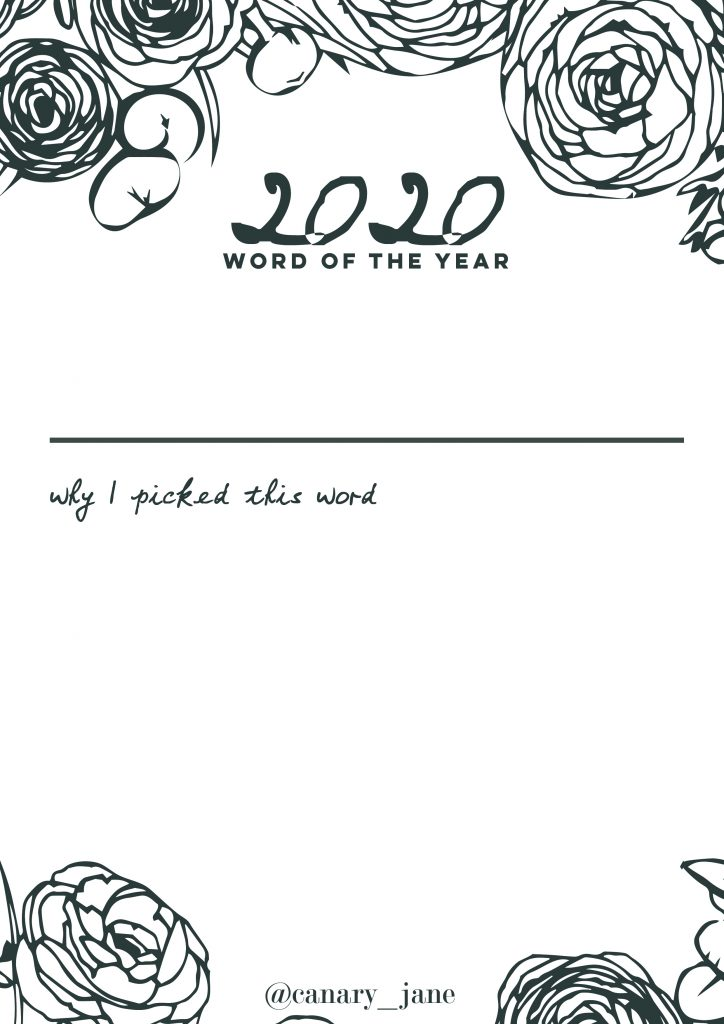 Happy New Years Eve! Man, what a year and decade it has been. To celebrate, I've created these 2020 word of the year and decade free graphics and printables. For the graphics, save the color you want and share by filling in the year with either gifs, a word to describe the year, or a small sentence about what happened those years.
