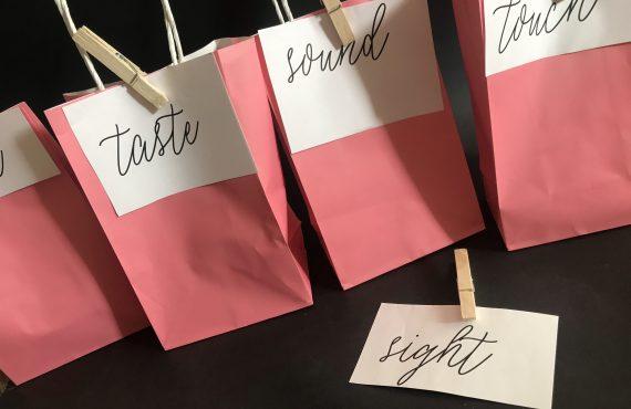 5 Senses Valentine Gift + Free Printable Tags