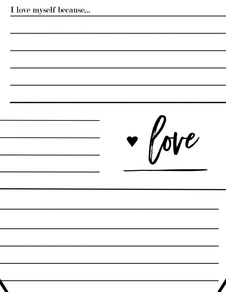 I created these self love worksheets that when completed and hung make a giant self love poster. print these worksheets for free.