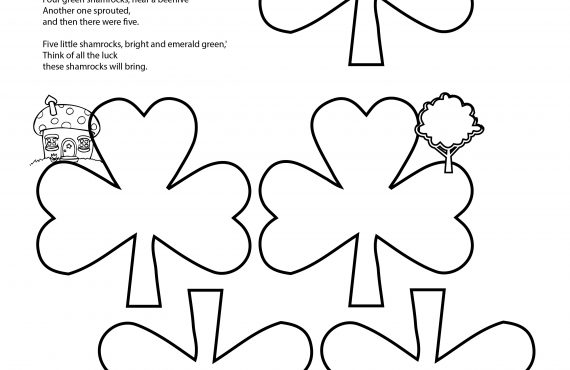 Irish Poem Free Printable + Five Little Shamrock Song