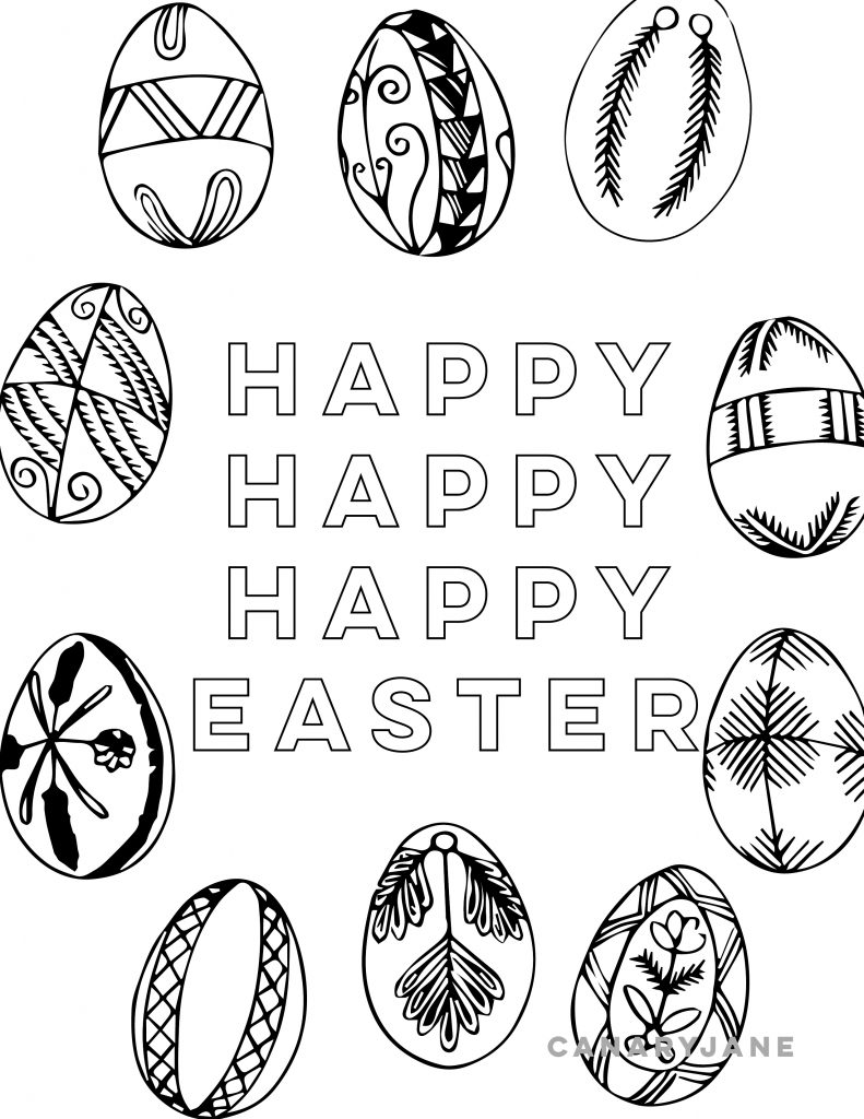 With Easter right around the corner, I wanted to share a handful of Easter coloring pages for you to print for free! I've also included some of the Easter free printables and activities you can find here on Canary Jane. Need help printing? Scroll to the bottom for printing instructions. Happy Easter!