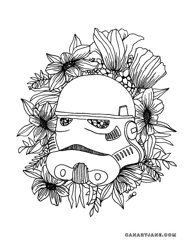 Print this free star wars storm trooper coloring page and free printable. Have fun with the graphics perfect for may-the-fourth day.