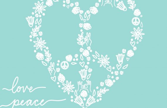 Peace, Love, & Unity Coloring Page