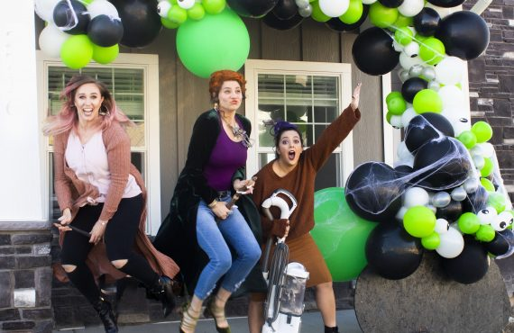 Modern Hocus Pocus Witch Costumes + Halloween Balloon Garland Witches…