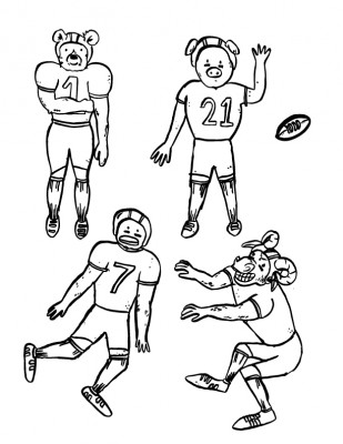 football players puppets