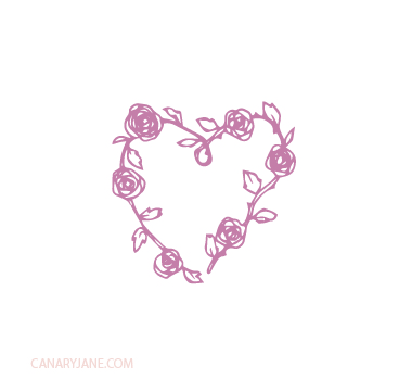 valentine floral hearts